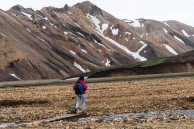 Traveler Hike at Landmannalaugar Iceland Highland