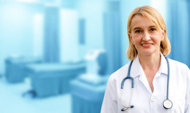 Senior woman doctor working in the hospital.