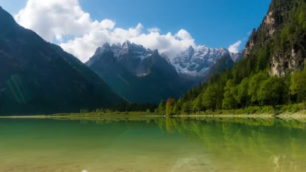 Time Lapse of Lake Landro, Dolomites , Italy