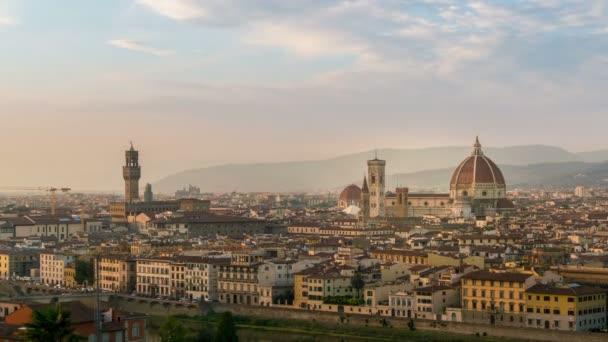 Time Lapse of Florence City Skyline Olaszországban
