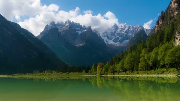 Time Lapse of Lake Landro, Dolomites, Italy