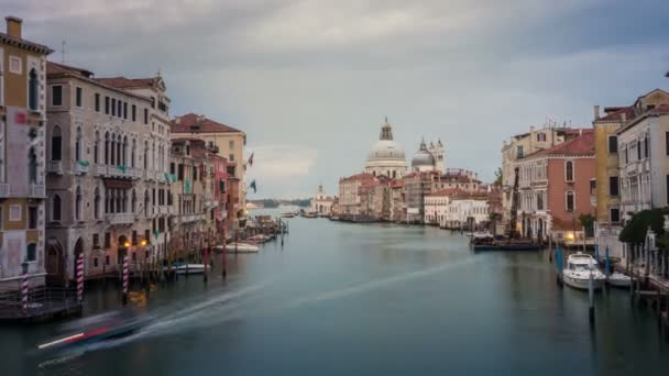Time lapse of Venice Grand Canal skyline in Italy