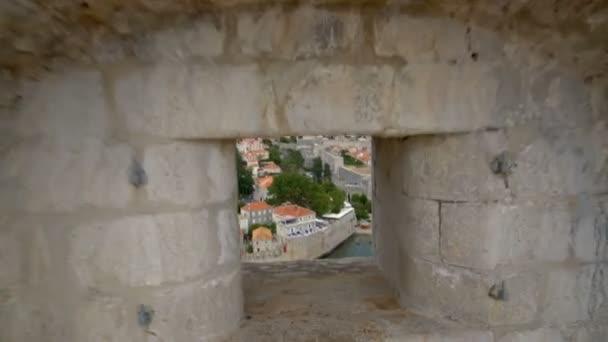 Historická zeď Starého města Dubrovníku, Chorvatsko.