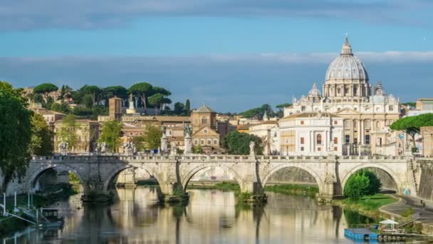 Time lapse of Rome Skyline with St Peter Basilica