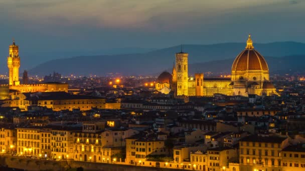 Sunrise Time Lapse of Florence Skyline in Italy
