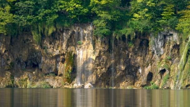 Vízesés Plitvicei-tavakban, Horvátország.