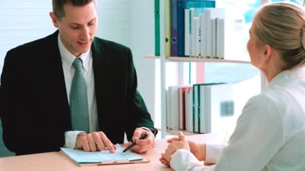 Job seeker in job interview meeting with manager