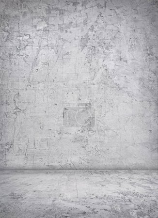 Photo for Empty grey grunge interior with concrete wall and floor. - Royalty Free Image