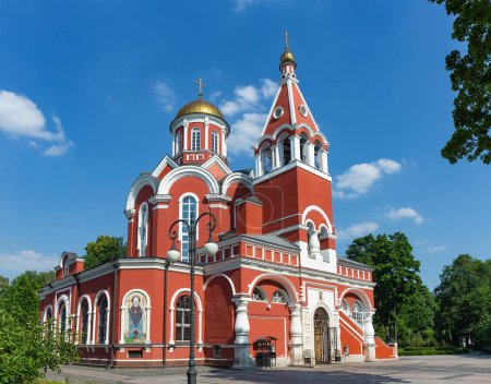 MOSCOW, RUSSIA - June 2, 2018: The Church of the Annunciation in Petrovsky Park of Moscow