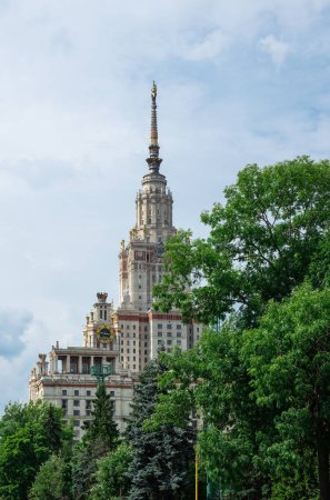 Moscow, Russia - June 30, 2018: Building of Lomonosov Moscow State University (MSU)