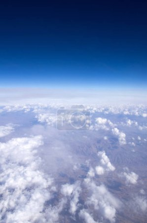Photo for Aerial sky and clouds background - Royalty Free Image