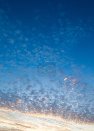 Photo for Sunset with sun rays, sky with clouds and sun. - Royalty Free Image