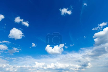 Photo for Blue sky with white clouds. Sky background - Royalty Free Image