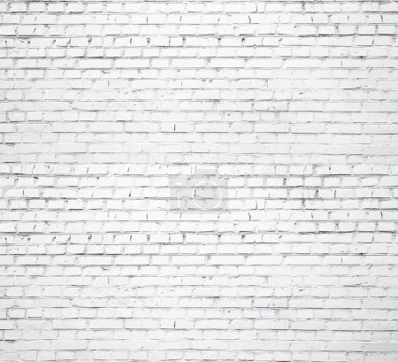 Photo for White brick wall for background or texture - Royalty Free Image