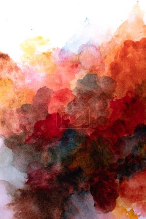 Photo for Beautiful texture of watercolor flowing and combining - Royalty Free Image