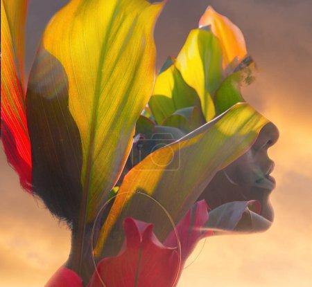 Photo pour Portrait créatif inhabituel numériquement maipulé - image libre de droit
