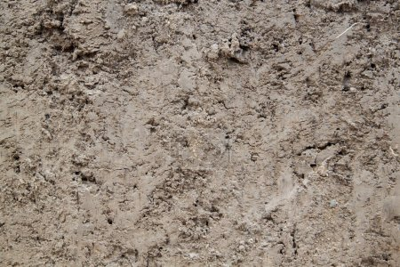 close up view of cut of ground