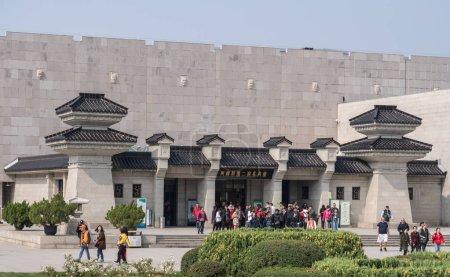 Building housing Terracotta Army warriors buried outside Xian China