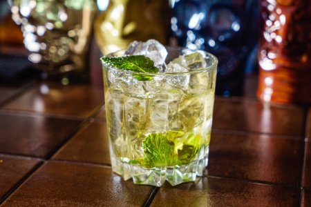 Photo for Cocktail in the bar, close up - Royalty Free Image