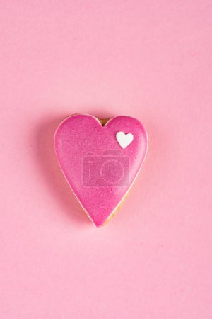 Photo for Heart shaped cookie made by hand - Royalty Free Image