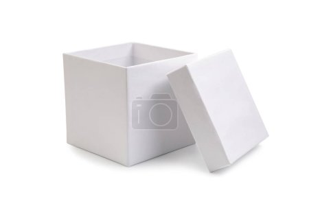 Photo for Empty open box isolated on white background - Royalty Free Image