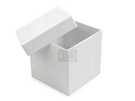 Photo for Empty white box isolated on white background. - Royalty Free Image
