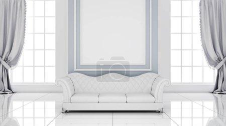 Photo pour Intérieur de style classique (rendu 3D ) - image libre de droit