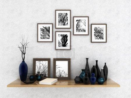 Photo pour Le décor à l'intérieur (rendu 3d ) - image libre de droit