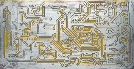 Photo for Simple pcb without components - Royalty Free Image