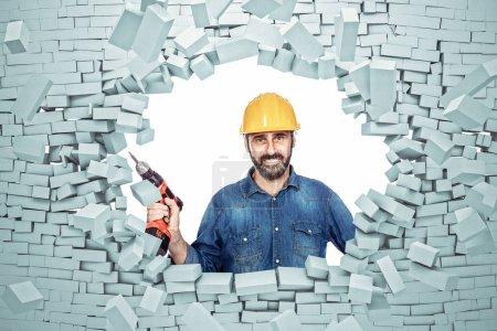brick explosion and handyman