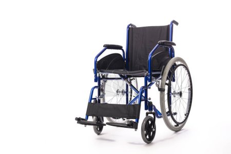 Photo for Wheelchair for the disabled on a white background, nobodyin the image. - Royalty Free Image