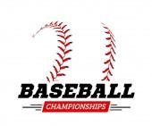 Baseball ball on white background Vector illustration