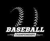 Baseball ball on black background Vector close-up illustration