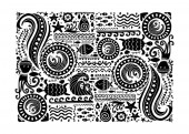 Polynesian style marine background tribal ornament for your design