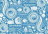 Polynesian style marine background tribal seamless pattern for your design
