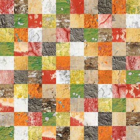 Photo pour Fond sans couture avec des motifs en stuc de différentes couleurs. Texture sans fin peut être utilisé pour le papier peint, remplissage de motifs, fond de page Web, textures de surface - image libre de droit