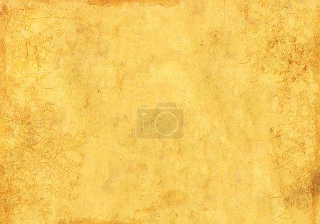 Photo pour Fond grunge avec texture sale du vieux papier de couleur jaune - image libre de droit