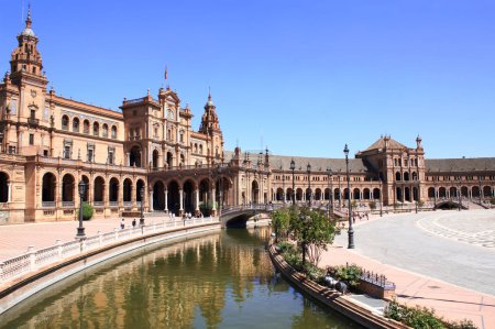 Spanish square or the Plaza de Espana in Seville, Spain
