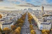 Aerial panoramic cityscape view of Paris, France with La Defense, business district of Paris