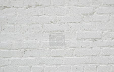Photo for Old white brick wall texture for background - Royalty Free Image