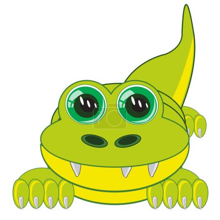 Illustration for Vector illustration of the cartoon animal crocodile - Royalty Free Image
