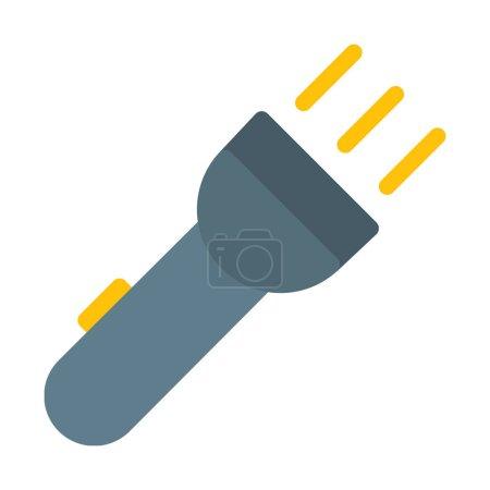Illustration pour Icône Flash Light pratique, illustration vectorielle simple - image libre de droit