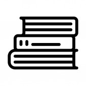 Books Staked Up icon vector illustration