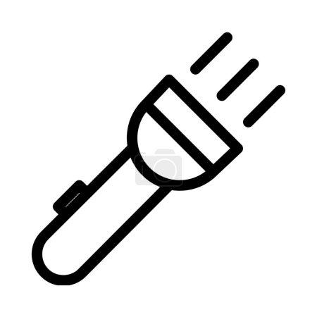 Illustration pour Illustration vectorielle d'icône pratique Flash Light - image libre de droit
