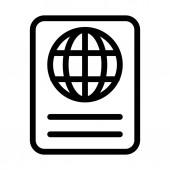 Internation Travel Passport icon isolated on white background