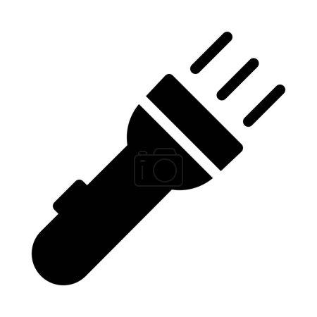 Illustration pour Handy Flash Light isolé sur fond blanc - image libre de droit