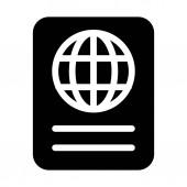 Internation Travel Passport isolated on white background