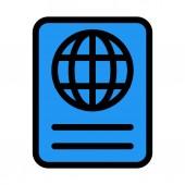 Internation Travel Passport vector illustration