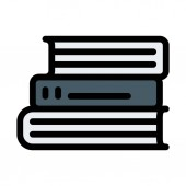 Books Staked Up vector illustration
