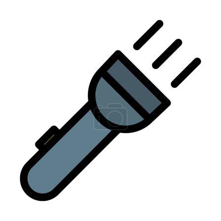 Illustration pour Illustration vectorielle pratique Flash Light sur fond blanc - image libre de droit